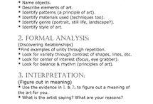 Art Critique - High School