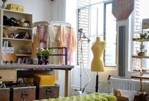 Sewing studio / atelier / creative workspace / Interiors and details of studios, ateliers and workspaces for the creative and for us who love sewing