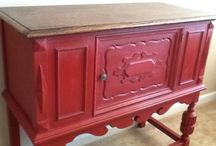 Painted Dining Tables, Buffet Tables and Sideboards
