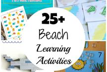 Beach Theme Unit / Educational learning resources for a beach theme unit study.