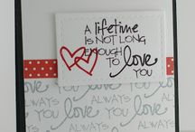 Card designs- love and anniversary