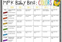 Baby Learning Ideas / Do you need learning activities for your baby or young toddler? From colors and shapes to holiday fun,  I'm sharing all my favorite crafts, sensory bins, activities and ideas for teaching even the littlest babies!