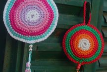 Crochet decorations.