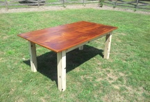 Farmhouse Tables / Here is a collection of finished farmhouse tables. Made from reclaimed Pine, Oak or Chestnut. Most items below can be made in any size. All items are made in the USA and use recycled Barnwood