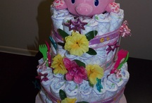 the diaper cake i made using a pin i found...im proud of it :) / by La Danya Friday