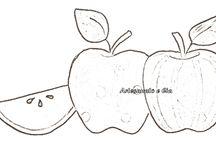 Moldes de frutas e legumes para aplicação