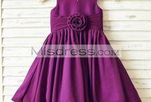 Chiffon Girl Dresses for Wedding / Cute little girl dresses for wedding made by soft chiffon