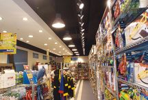 Menkind gadget store, Manchester / New track lighting, containment, small power and communications facility