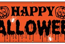 Halloween Banners / Celebrate Halloween with one of these festive banners