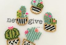 brick stitch bloemen etc