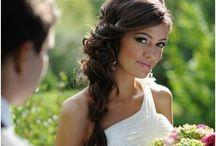 bridal hair side