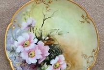 fiori su ceramica
