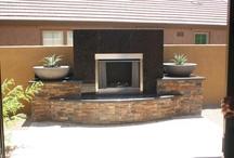 Fireplace Design / Interior and exterior fireplace design.