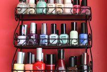 astuces rangement maquillage / vernis à ongles