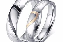 Couple Rings / A perfect promise ring for couples around the world, these couple rings are affordable and beautiful. Express your love on a budget with our affordable couple ring sets!
