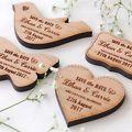 All wood wedding