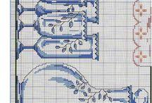 Cross stitch Porcaleine/Vases.
