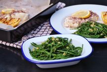 Food:  Fish & accompaniments / Fish and what to go with it.  Healthy recipe ideas for weeknight suppers!  gluten free.