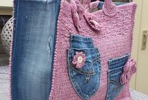 denim e crochet