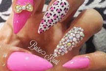 Pink / Rosa / Lila / Coral Nails