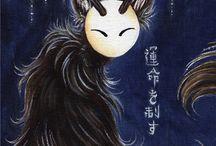 Tea fox illustrations