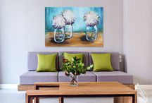 PWAT: Interiors / Our pretty paintings hanging inside homes. We love to think about a painting's life after it leaves the studio!