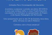 Reuniões de Apresentação do Projeto e da Equipa Pedagógica / Pré-Escolar, 1º, 2º e 3º CEB