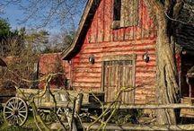Painting Ideas: Landscapes / Landscape ideas for painting, painting landscapes, mountains, barns, landscape
