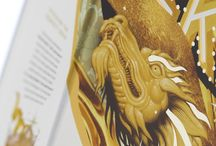Johnnie Walker Gold Label Reserve - Diageo's Artist Series 2017 / Designed by street artist Tristan Eaton and manufactured by MW, the pack boasts a high quality rigid board structure, and premium paper wrappings with a shimmering pearlescent finish. Like the packs for the 18-Year-Old and the Green Label, this box opens via an illustrated front flap, revealing an inner fitment holding the whisky and two tumblers.