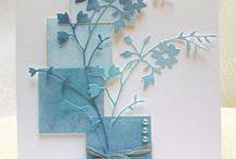 Biglietti Con Fiori e farfalle