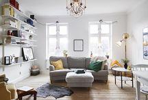 Vardagsrum i nya lägenheten