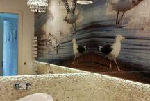 White Pebble Tile - Bathroom / White Pebble Tile - Bathroom ideas. Application of white pebbles on the wall. How do bathrooms look with pebbles on the walls. See our bathroom inspirations and pebble tile ideas...