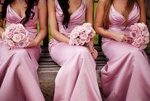 Wedding Bridesmaid Dresses Pink