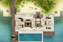 Over Water Villa Design