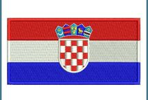 Flag machine embroidery designs