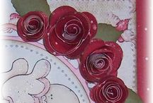 Making flowers / Making flowers with fabric, paper, ribbon etc for craft and sewing projects.