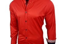 Rode Overhemd voor Heren, Heren Businessshirt Blouse