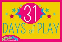 31 Days of Play / Join us for 31 Days of Play this July! Play a SimplyFun game each day and enjoy building smarter kids and stronger families, wahoo!  / by SimplyFun
