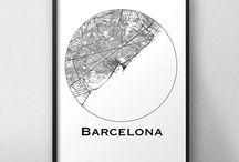 Affiche de ville Espagne