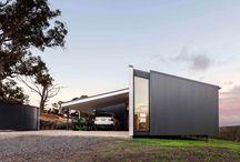 Domy - pultová střecha