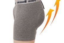 New Mens Hip Up Padded Underwear Drawers Volume Up Shaper Panty Butt Boxer