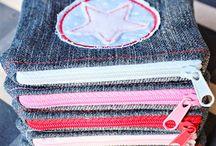 alte Jeans vernähen