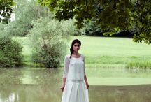 Lady In White In Green Spring
