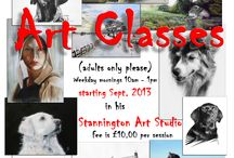 Drawing and Painting Classes / Starting this September, I'm running weekday morning art classes between 10am - 1pm, and only £10 per session. So if you always wanted to draw (pastels, charcoal) or paint (acrylic, watercolour), now the time to see what you can do! Ring me on 01670 789890 for places.
