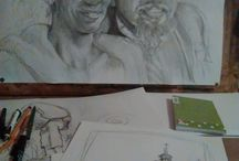 Malování a kreslení / Kurzy  malby a kresby na ZŠ v Rychnově u JBC www.bezmezer.weebly.com