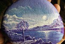 Paint stones