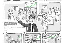Internet Marketing Comics /  Have you ever felt lost reading about digital marketing? All those terms and weird phrases. For people like you, we decided to create an online comics about digital marketing.