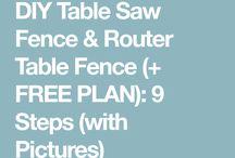 Diy tablew saw fence