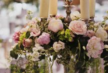 candelarbra and centre pieces