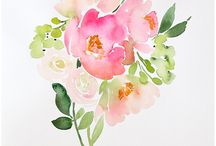 watercolor floral bouquets l like